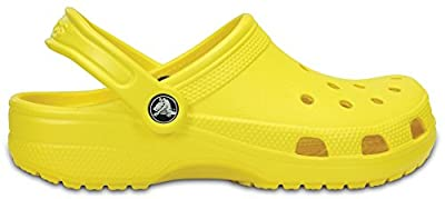 Crocs Classic Clog|Comfortable Slip On Casual Water Shoe, Lemon, 13 M US Women / 11 M US Men