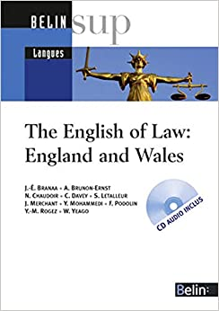 Book's Cover of The English of Law: England and Wales (1CD audio) (Français) Broché – 15 septembre 2006