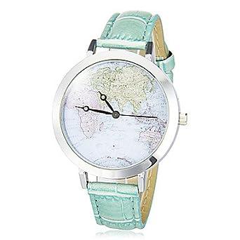 mujeres de Diagrama de patrón Esfera Redonda PU banda de cuarzo analógico reloj de pulsera (Varios Colores): Amazon.es: Relojes