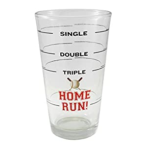 Baseball Home Run Pint Beer Glass – 18 oz