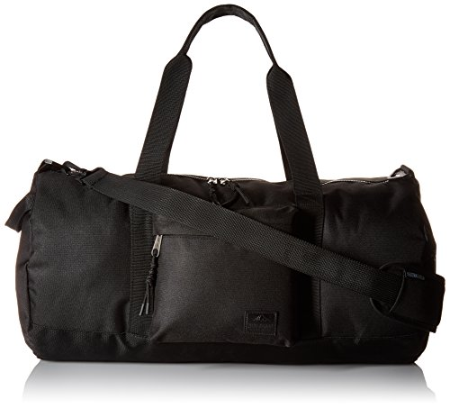 41Zk9zdSRWL - Steve Madden Men's Solid Nylon Duffle, deep black, One Size