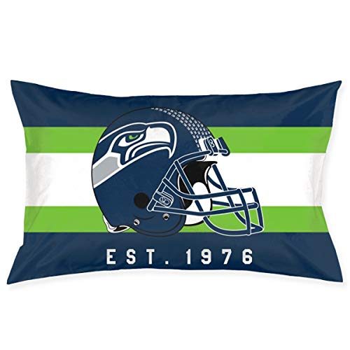 Marrytiny Custom Rectangular Pillowcase Colorful Seattle Seahawks American Football Team Bedding Pillow Covers Pillow Cases for Sofa Bedroom Bedding Car Home Decorative - 20x30 -