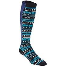 Xpandasox Women's Plus Size/Wide Calf Cotton Blend Stripe Knee High Socks