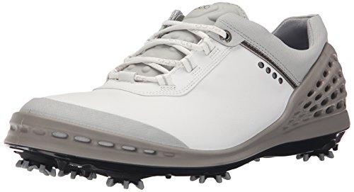 ECCO Men's Cage Golf Shoe, White, 43 EU/9-9.5 M ()