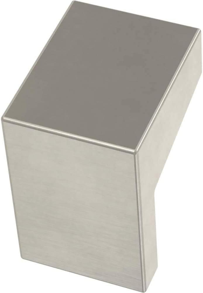 Franklin Brass P40838K-SN-C Mirrored Kitchen or Furniture Cabinet Hardware Drawer Handle Knob, 1-1/16-Inch (27mm), Satin Nickel, 10-Pack