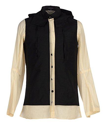 Ann Demeulemeester Men's Lightweight Waxed Yoke-Panel Hooded Project Jacket - Damir Doma