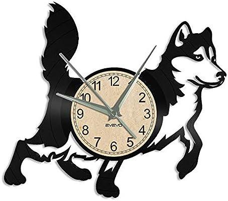 perro husky Reloj De Pared Vintage Accesorios De Decoración del ...