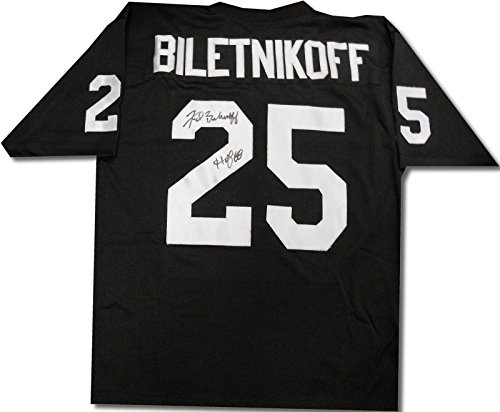Fred Biletnikoff Hand Signed Autographed Oakland Raiders Jersey HOF 88 COA