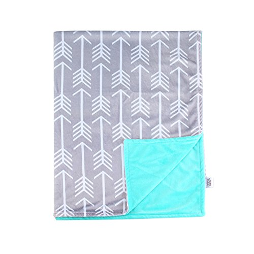 Towin Baby Arrow Minky Double Layer Receiving Blanket, Mint 30x40