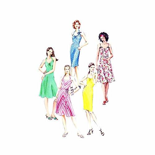 Shirred Dress Pattern (Misses Halter or Shoulder Strap Sun Dress Vogue 8073 Sewing Pattern Size 6 - 8 - 10)