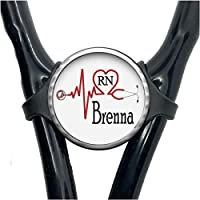 Personalized Medical EKG Heart Adjustable Stethoscope Id Name Tag