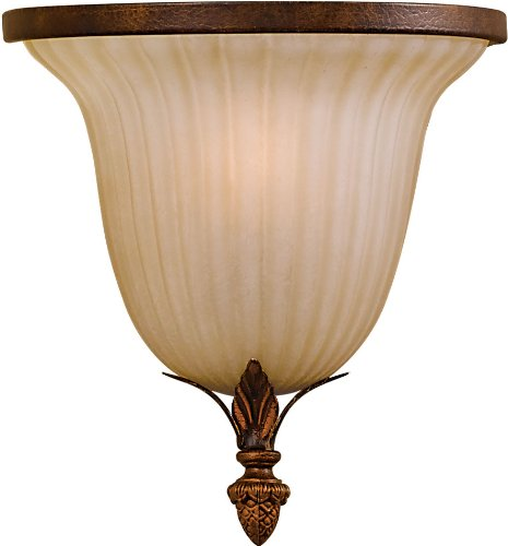 Feiss WB1279ATS Sonoma Valley Glass Wall Sconce, 1-Light, 60watts, Bronze (8