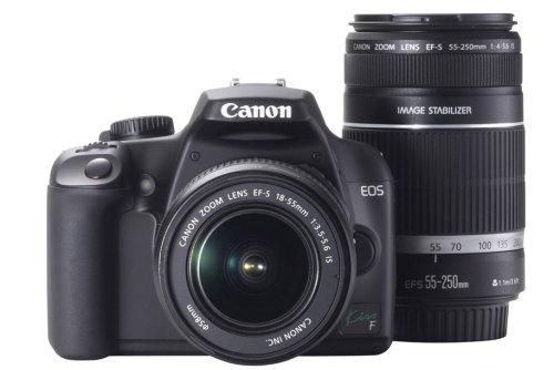 キヤノン イオスキス F ブラック ダブルズームキット EFS1855mm F3.55.6 ISEFS55250mm F45.6 ISの商品画像