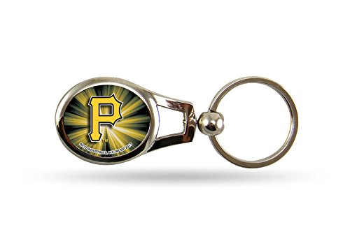 (Rico MLB Pittsburgh Pirates Oval Keychain)