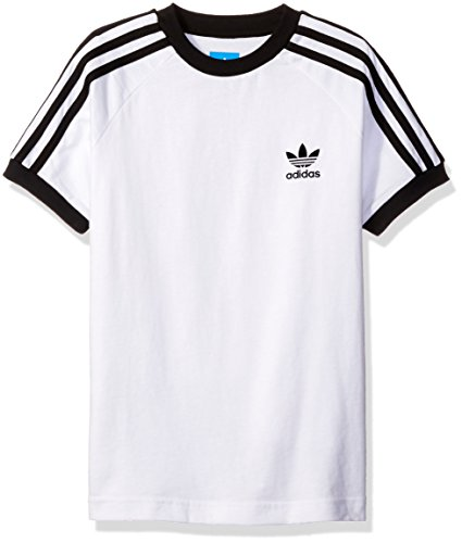 adidas Originals Big Boys' California Tee, White/Black, XL