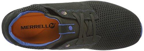 Merrell Getaway Lace - Zapatillas para hombre Gris (Dark Grey/Blue Meshdark Grey/Blue Mesh)