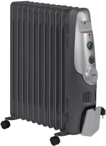 AEG 520022 RA 5522 11 Rippen Öl Radiator 2200 Watt, anthrazit