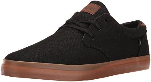 Globe Men's Willow Skateboarding Shoe, Black Hemp/Gum, 11 M US - Skate Globe