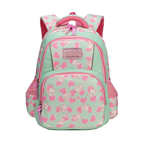 322f514a63e0 Fox World H231 Girls Fashion Backpack, Waterproof & Lightweight School Bags  for Primary School, Green