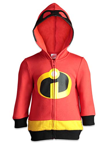 Disney Pixar The Incredibles Boys' Zip Up Costume Hoodie Sweatshirt & Mask Set 6 -