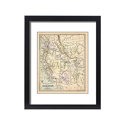 Media Storehouse Framed 20x16 Print of United States map 1881 (13669307)
