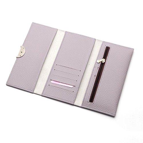 Sac Simple Trifold Femmes soirée Enveloppe Taille 8 Portefeuille 5 Croix Sac Simple Embrayage 17 Main cm Long pour 9 Style Purple à Boucle 1 de Mme qpZtv