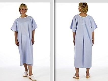 Sudadera azul abierto Espalda camisón de examen NHS Hospital de rayos X no ties o cierres
