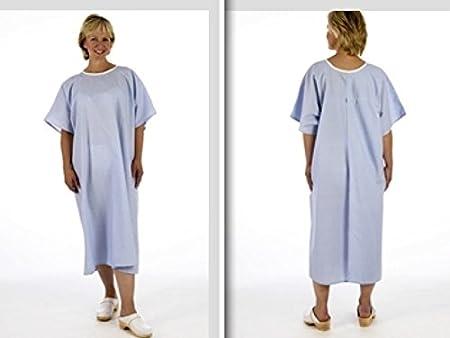 Sudadera azul abierto Espalda camisón de examen NHS Hospital de rayos X no ties o cierres (shd210): Amazon.es: Salud y cuidado personal