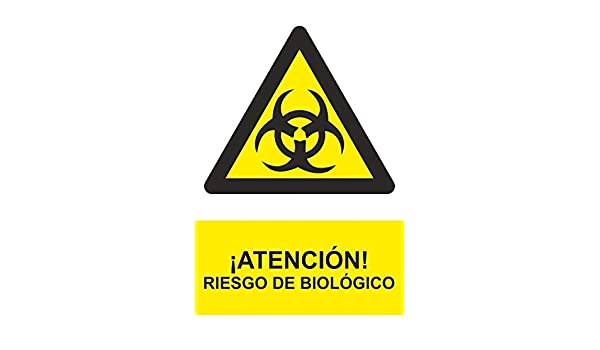 ref.RD30017 Se/ñal PELIGRO ATENCION RIESGO BIOLOGICO material PVC 0,7mm 210X300mm homologado nueva legislaci/ón MovilCom/®