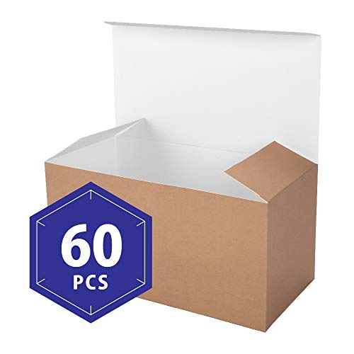 PACKHOME Kraft Gift Boxes with Lids 60 Pcs 9x4.5x4.5 Inches Paper Gift Box for Wedding,Gift,Party,Recycled Paper -