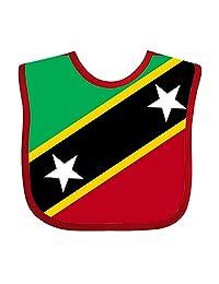 Flag Saint Kitts Flat Infant Baby Bib