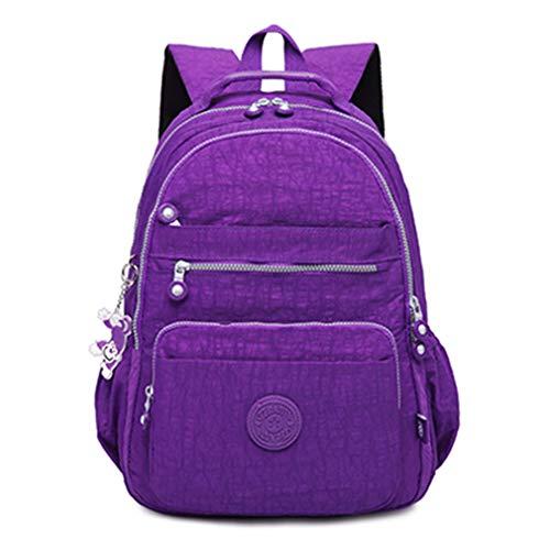 Backpack For Teenage Girls School Bags Laptop Bagpack Travel Leisure Style light purple 33CMX16CMX47CM