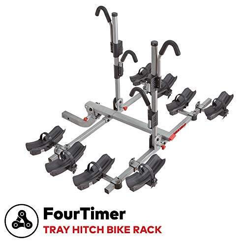 Yakima - FourTimer Hitch Mount Tray Bike Rack, 4 Bike Capacity