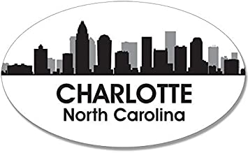 Vinyl Wall Decal Art American City Skyline Charlotte North Carolina Silhouette