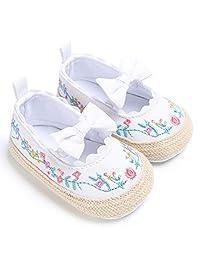 Liobaba Flower Pattern Infant Soft Soled Anti-Slip Shoes Cotton Shoes Babys Girls Solid Color Shoes Prewalker Soft Material