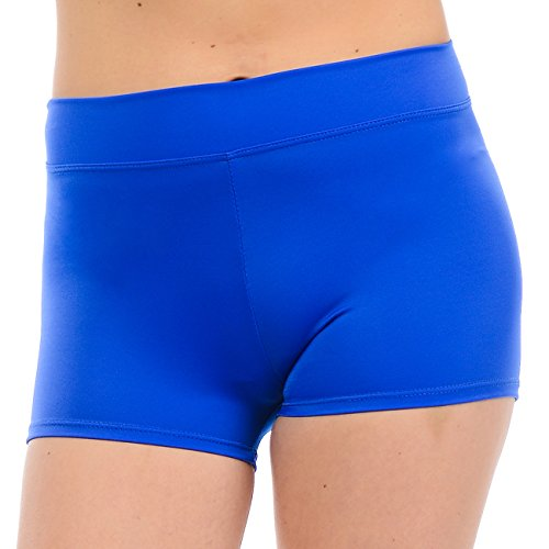ANZA Girls Active Wear Dance Booty Shorts-Royal Blue,Small by Anza Collection