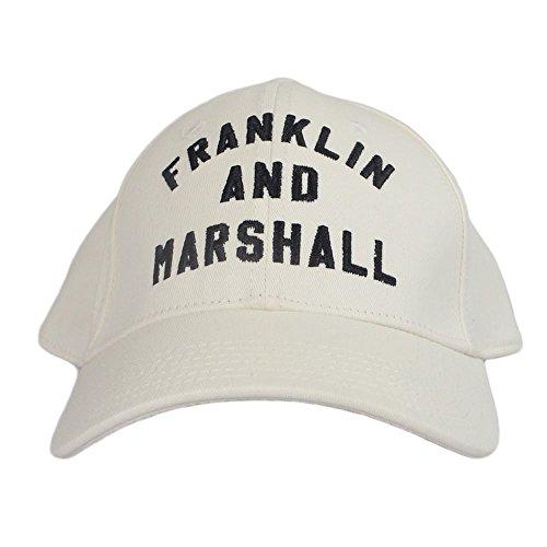 Franklin & Marshall CPUA906 Unisex Arch Logo White Cap 56 White (Arch Logo Cap)