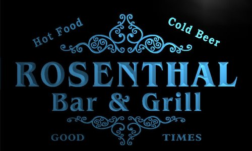 Price comparison product image u38287-b ROSENTHAL Family Name Bar & Grill Home Brew Beer Neon Sign