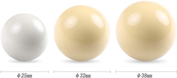 Lixada Conjunto de Bolas de Mesa de Billar para Niños de 25MM / 32/MM / 38MM Juego Completo de Bolas de Taco de Piscina de Resina Pequeña: Amazon.es: Deportes y aire libre