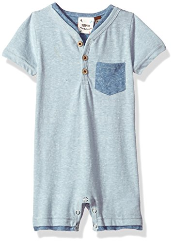 Fore!! Axel & Hudson Boys' 2-Tone Romper, Blue 3/6 Months