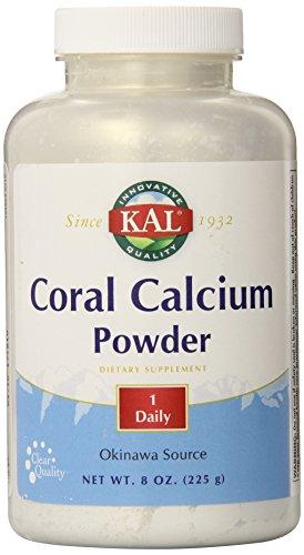 KAL calcium de corail en poudre 1000 mg comprimés, sans saveur, 8 oz