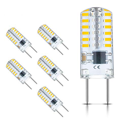 i pin LED Bulb 2.5W Equivalent to G8 Halogen Bulb 20w,G8 LED Dimmable Light Bulb Warm White 3000k,AC 110v 120v 130v(6 Pack) ()