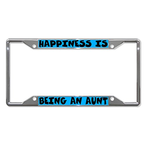 Fastasticdeals Happiness is Being an Aunt Metal License Plate Frame Tag Holder Four Holes (Best Fastasticdeals Aunts)