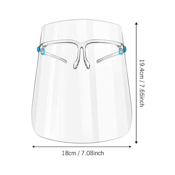 3-Stcke-Gesichtsschutzschild-Sicherheit-Gesichtsschutz-mit-Visier-Schutzhelm-Gesichtsschutzschirm-Klar-Schutzbrille-Gesichtsschild-fr-Arzt-Outdoor-Arbeit-Kche
