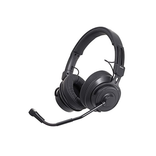 Audio Technica Cardioid Headset - Audio-Technica BPHS2C Broadcast Stereo Headset with Cardioid Condenser Boom Microphone