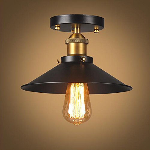 WINSOON Industrial Mini Edison Ceiling Light Style Bar Loft Metal Art Painted Finish - Classic Painted Finishes Metal