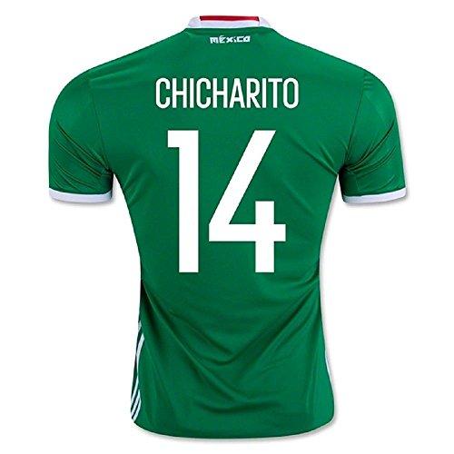 USNC8K 2016 Copa America Centenario Mexico 14 Chicharito National Team Home Football (Mexico Home Jersey)