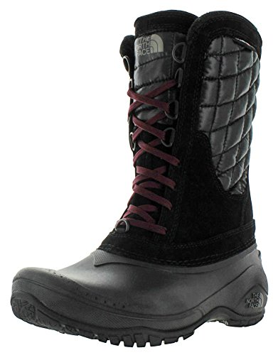 Die North Face Frauen Thermoball Utility Mid Boot Tnf Black / Deep Granat Rot