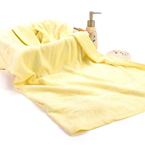 Ökologische Bambusfaser Handtuch Home Adult große Badetuch antibakterielle Paare Bambus Zellstoff Handtücher, Gelb