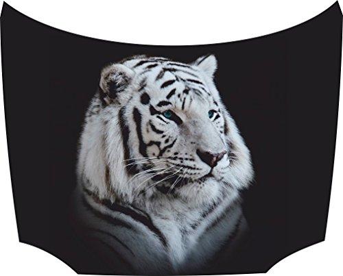 Bonnet Sticker Tiger White: